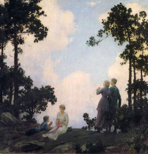 Charles Courtney Curran - En Los Pinos