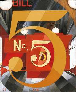 Charles Demuth - Yo vi la figura 5 en oro ( homenaje a william carlos williams )