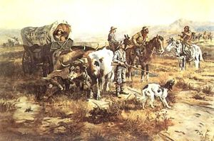 Charles Marion Russell - Un dudoso Visitante