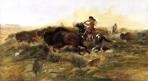 Charles Marion Russell - salvaje carne para salvaje hombres