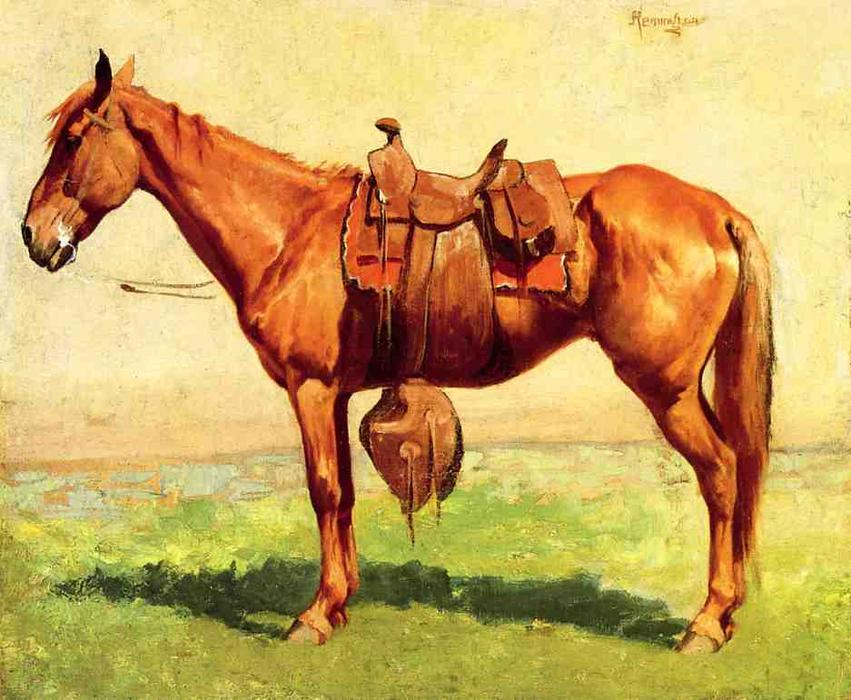 Cow Pony, óleo sobre lienzo de Frederic Remington (1861-1909, United States)