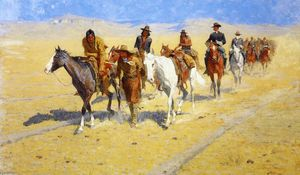 Frederic Remington - Pony Tracks en los senderos de Buffalo