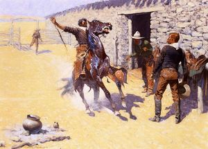 Frederic Remington - Los apaches!