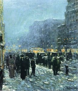 Frederick Childe Hassam - Broadway asícomo 42nd Calle