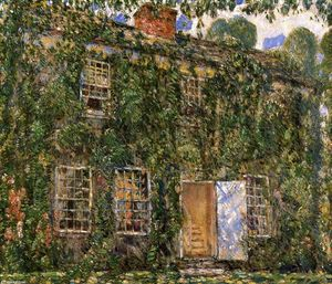Frederick Childe Hassam - Home Sweet Home Cottage, East Hampton