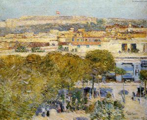 Frederick Childe Hassam - Place Centrale y fortaleza Cabanas, La Habana