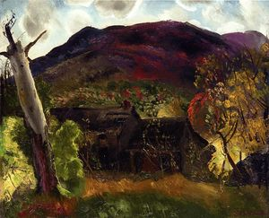 George Wesley Bellows - Blasted Árbol y abandonada Casa