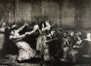 George Wesley Bellows - Baile en un manicomio