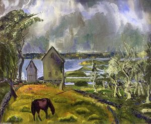 George Wesley Bellows - old orchard , Newport , Rhode Isla