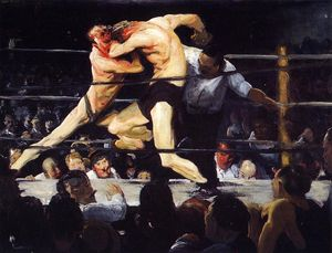 George Wesley Bellows - Noche del macho en Sharkey
