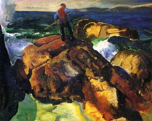 George Wesley Bellows - el pescador estudio