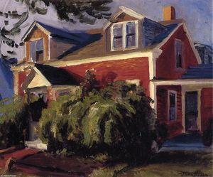 John Sloan - Nuestra Red Cottage de Gloucester