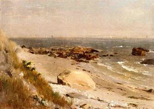 Thomas Worthington Whittredge - escena de la playa la bahía de Narragansett