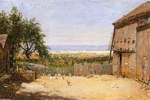 Thomas Worthington Whittredge - El Mar Del Dove Cote, Newport, Rhode Island