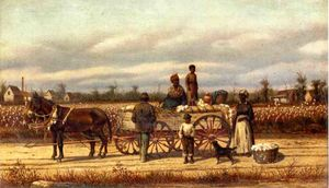 William Aiken Walker - noon` día pause en el algodón campo