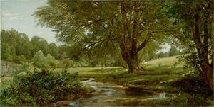 William Trost Richards - Glade en Oldmixon el condado de Chester  Pensilvania