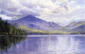 William Trost Richards - Lake Placid, montañas de Adirondack