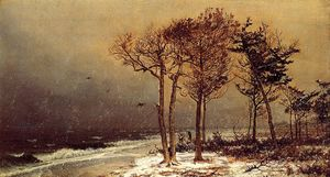 William Trost Richards - nieve tormenta atlántico ayuntamiento