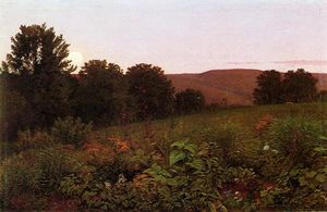 William Trost Richards - atardecer en el prado