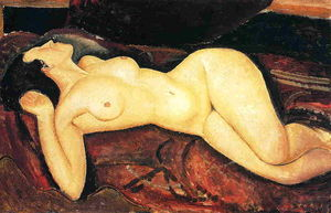 Amedeo Modigliani - Reclinada desnuda