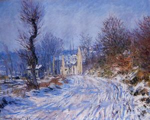 Claude Monet - camino a Giverny en invierno
