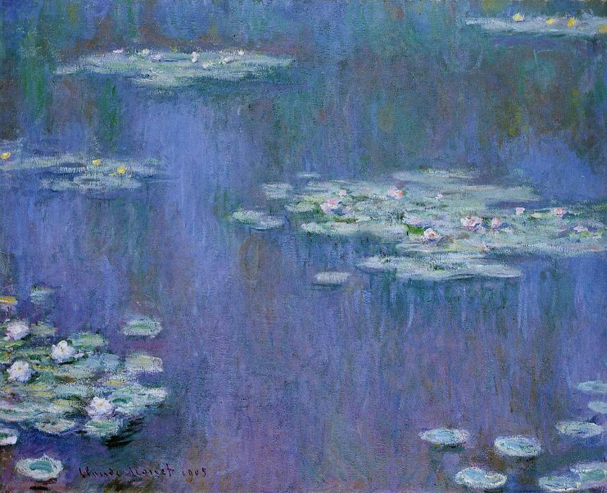 Water-Lilies 13, aceite de Claude Monet (1840-1926, France)