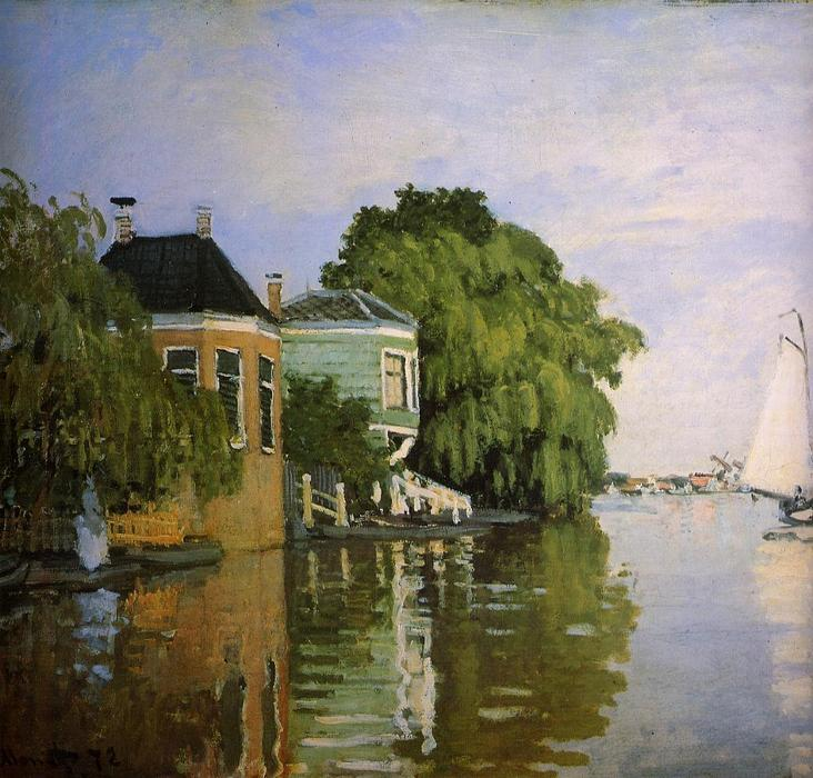 Zaandam 1, óleo de Claude Monet (1840-1926, France)