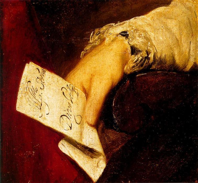 La mano de un hombre, óleo de Diego Velazquez (1599-1660, Spain)
