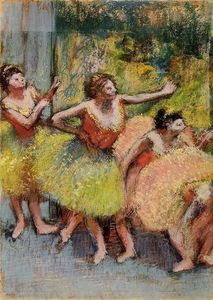Edgar Degas - bailarines in verde y amarillo