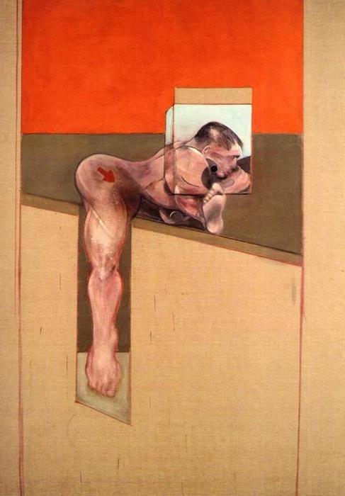 estudio para cuerpo humano, aceite de Francis Bacon (1909-1992, Ireland)