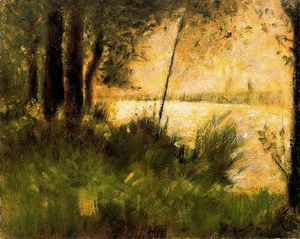 Georges Pierre Seurat - Riverbank Grassy