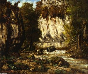 Gustave Courbet - Río y Cliff