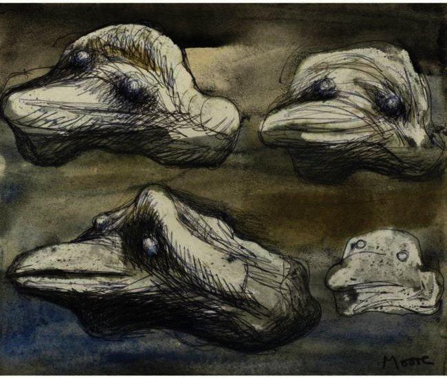Resultado de imagen para pinturas de HENRY MOORE