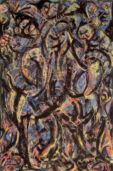 Gótico, óleo de Jackson Pollock (1912-1956, United States)