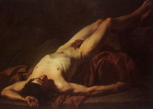Jacques Louis David - Estudio desnudo de Hector