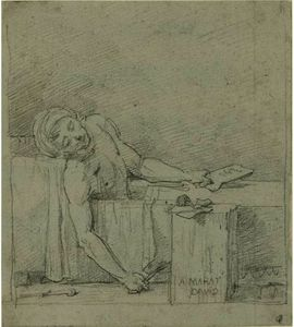 Jacques Louis David - la muerte de Marat ( Estudio )
