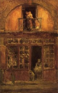 James Abbott Mcneill Whistler - a tienda con un `balcony`
