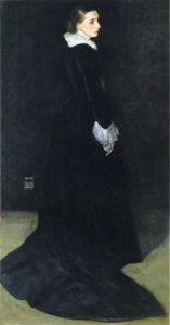 James Abbott Mcneill Whistler - arreglo en negro , Nadie . 2 . retrato de mrs . louis huth