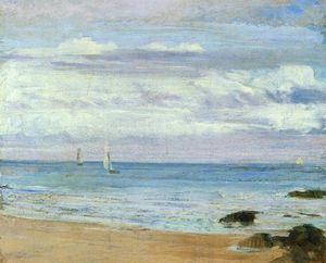 James Abbott Mcneill Whistler - azul y plata . Trouville