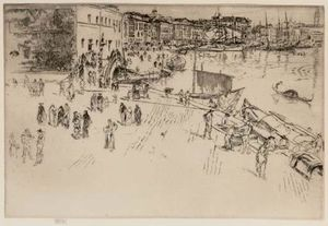 James Abbott Mcneill Whistler - La Riva I