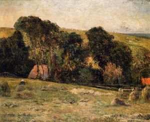 Paul Gauguin - Haymaking cerca de Dieppe