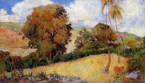 Paul Gauguin - Prado en Martinica