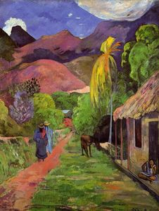 Paul Gauguin - camino in Tahití