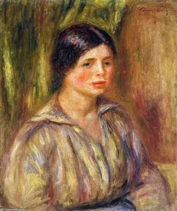 Pierre-Auguste Renoir - Busto of un Young Mujer 1