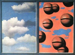 Rene Magritte - Belles rosa cielos hecha andrajos
