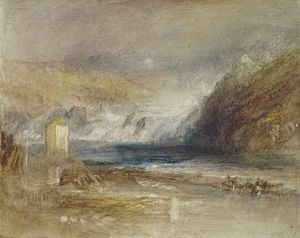 William Turner - Cataratas del Rin en Schaffhausen frontón  aspecto