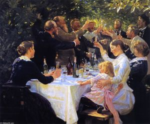 Peder Severin Kroyer - Hip, hip, hurra!