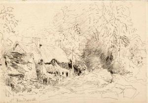 David Cox - cottage cerca de kenilworth , Warwickshire