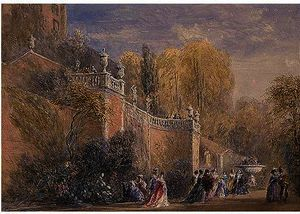 David Cox - Powis Castle, Gales