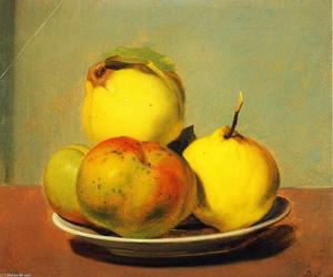 David Johnson - Plato de manzanas y membrillos